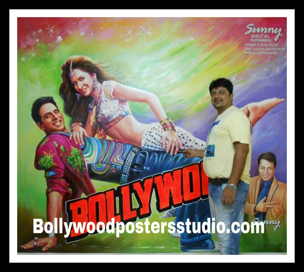 Hand painted Indian Bollywood posters