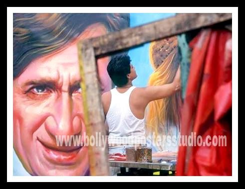 Hand painted custom Bollywood wall and Mural art