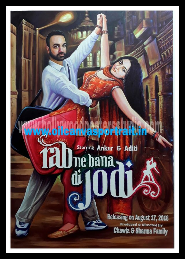 Custom bollywood posters hand painted