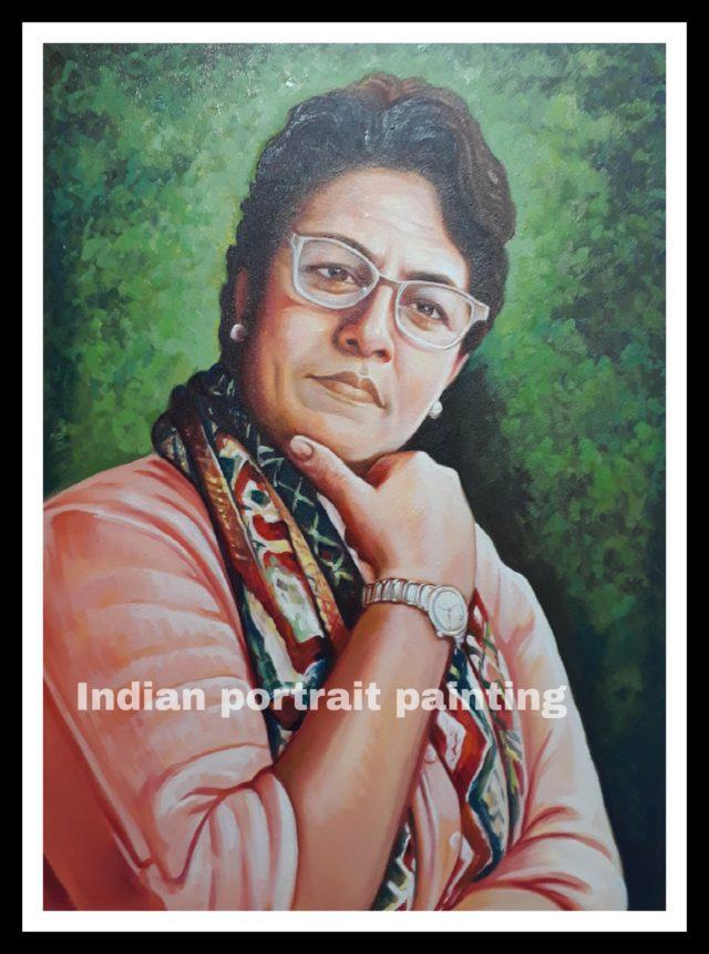 convert photo to canvas oil portrait