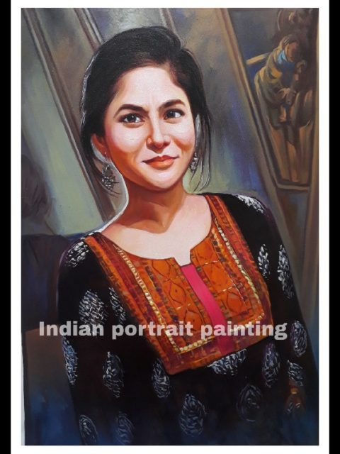 photo to custom made oil portrait painting