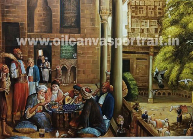 Arabian oil painting on canvas
