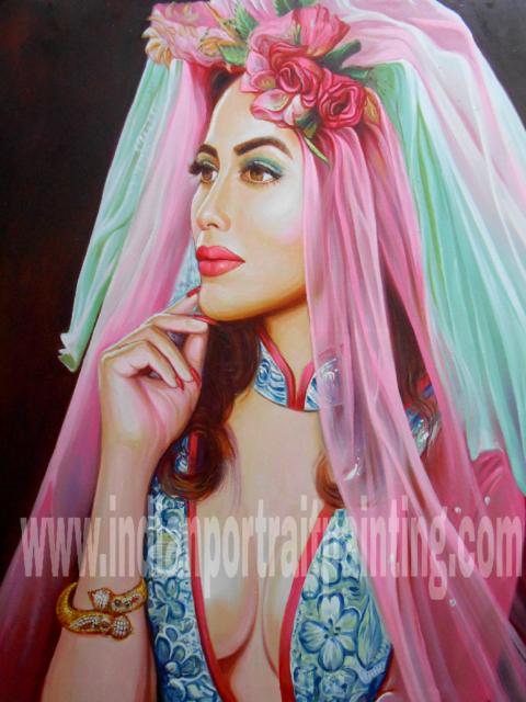 Canvas oil portrait