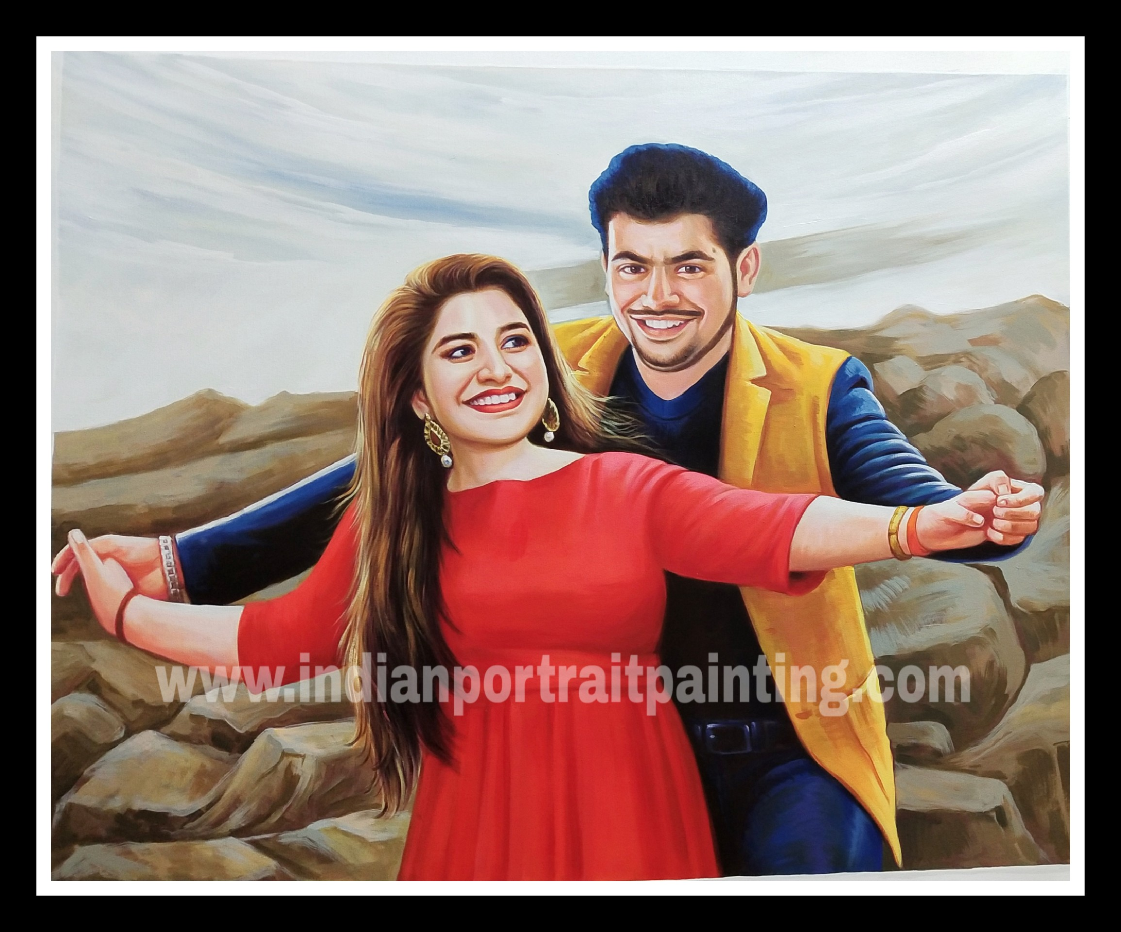 Convert photo to oil canvas painting