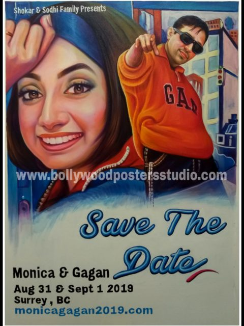 Hand painted bollywood poster artist