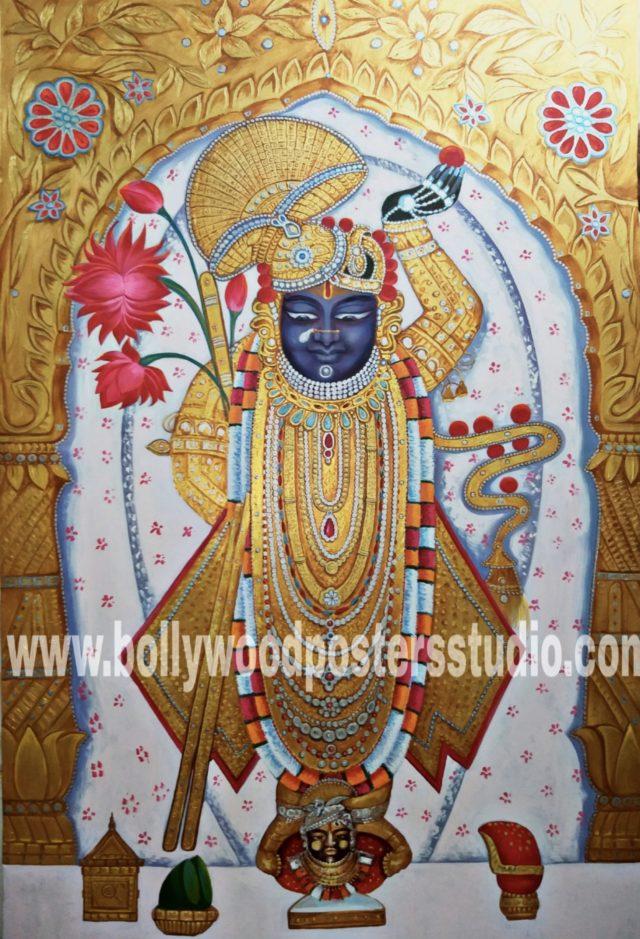 Hindu gods paintings - Shrinathji