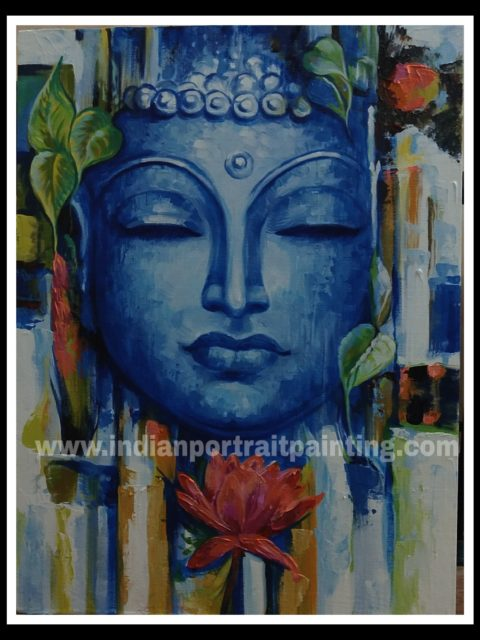 Lord Buddha oil painting for sale - abstract art