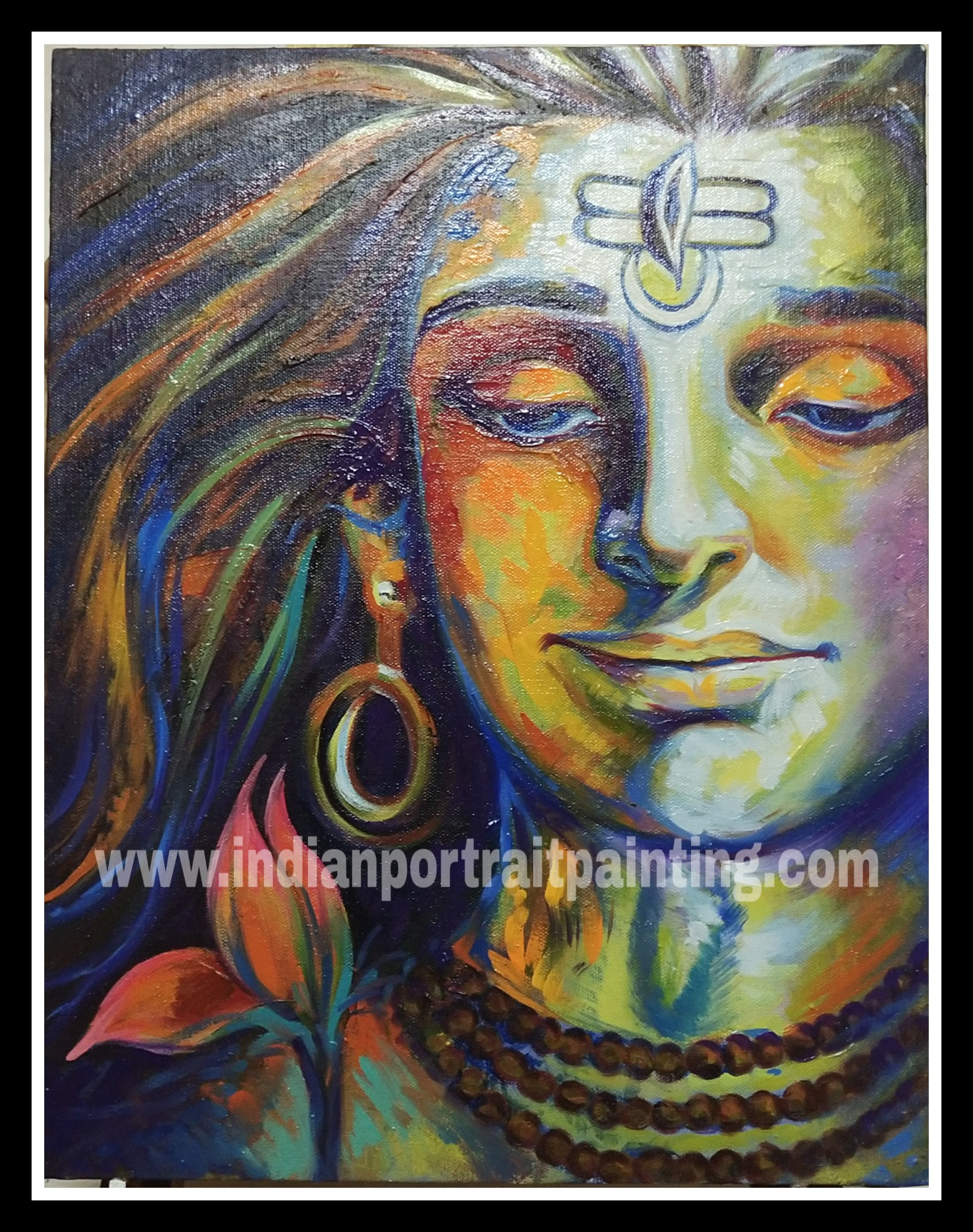 Oil paintings of lord shiva - contemporary art gallery