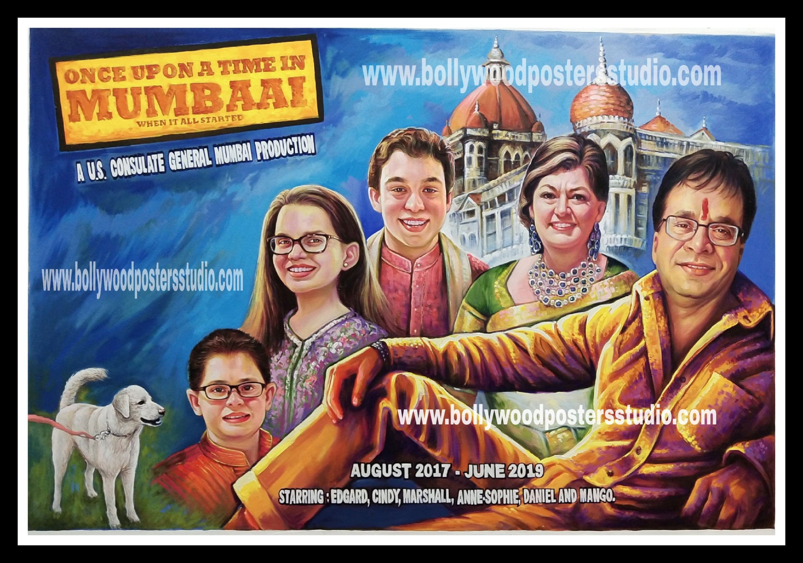 Personalized made family bollywood poster