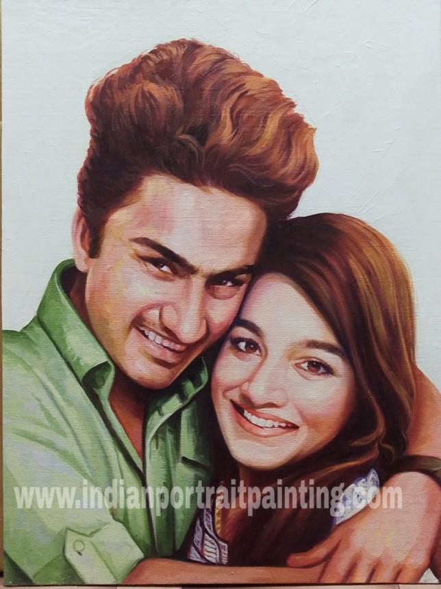 Portrait painting for couples