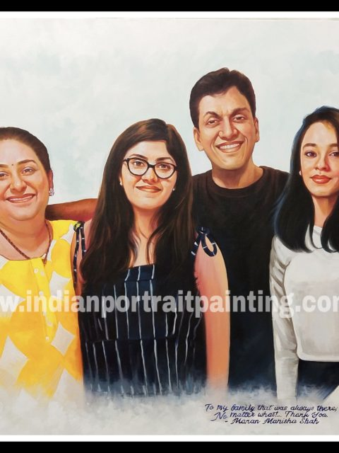 Portrait painting for family