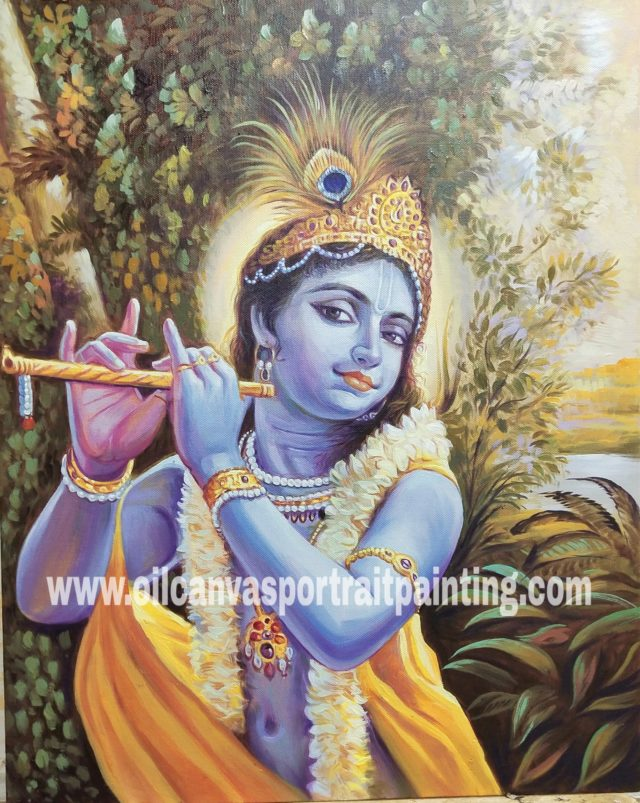 krishna oil paintings