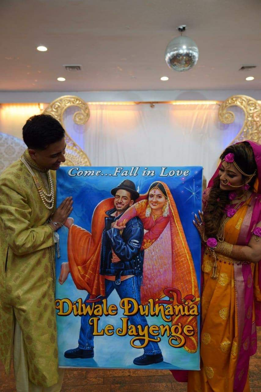 Personalized themed posters for wedding decor