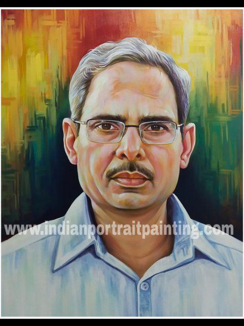 Canvas portrait painting on demand