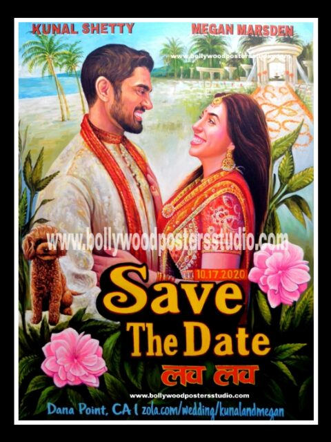 Custom made save the wedding date poster