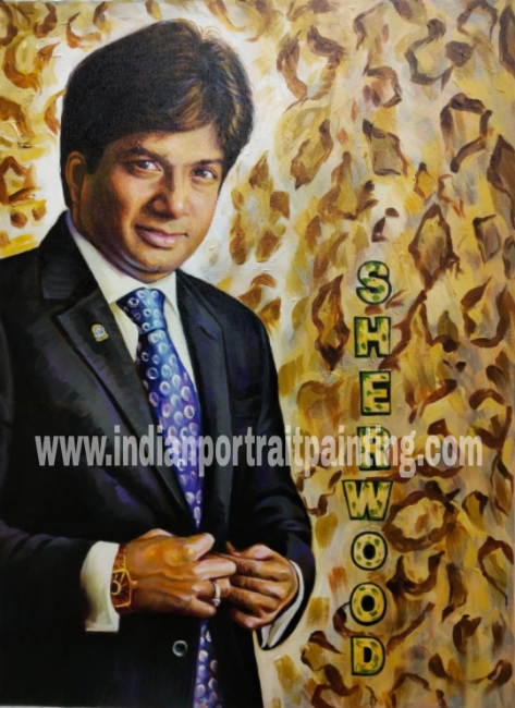 Hand painted portraits from photos artist
