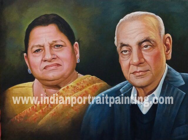 Customised portrait hand painted