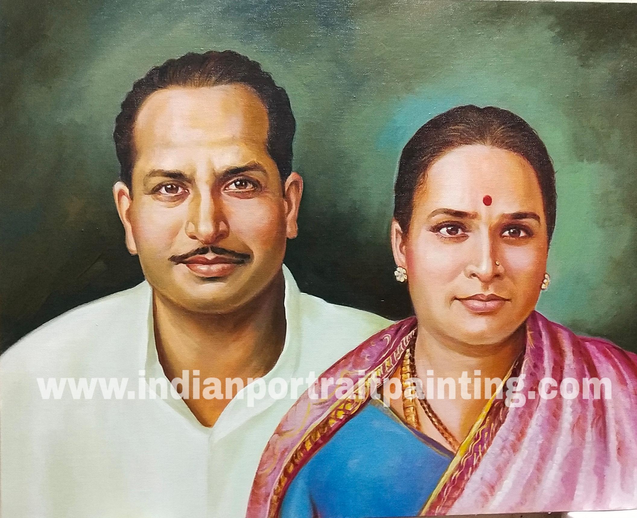 Customised portrait painting maker