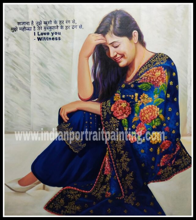 Customized portrait painting online india