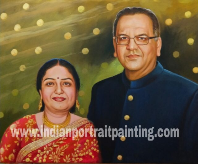 Portrait painting for mom and dad in-law