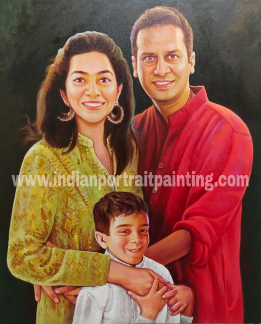 Portrait paintings for family